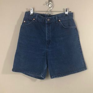 Levi's Relaxed Fit High Waisted Jean Shorts